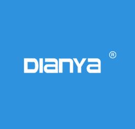 blue background logo of dianyamold.com