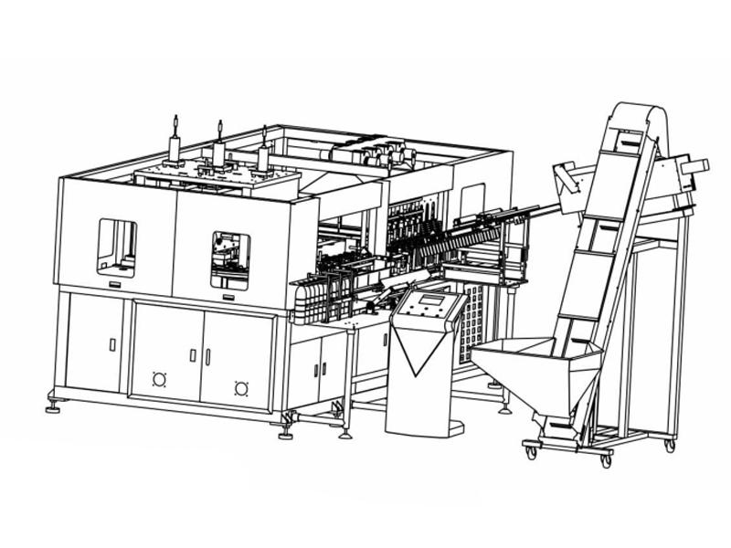 8 Cavity 2L-High Speed Full Automatic Servo Blow Molding Machine