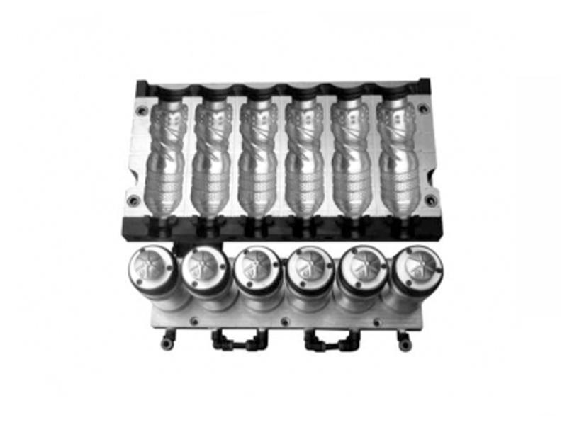 6-Cavity Automatic Blowing Mold (7075 Aluminum)